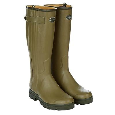 Le Chameau Men's Chasseur Leather Lined Boots Vert Vierzon | Rain