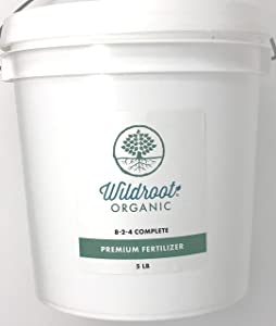 Wildroot Organic Premium 8-2-4 Complete All-Purpose General Plant Food Fertilizer Plus Humate and Kelp Extract 5 lbs.