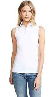 edf802ace2f SkinnyShirt Classic Sleeveless White Slim Shirt No-Bunch Pull-On Shirt  w Nylon
