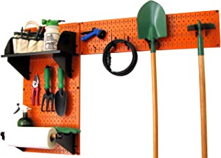 product image for Wall Control Pegboard Garden Supplies Storage and Organization Garden Tool Organizer Kit with Orange Pegboard and Black Accessories