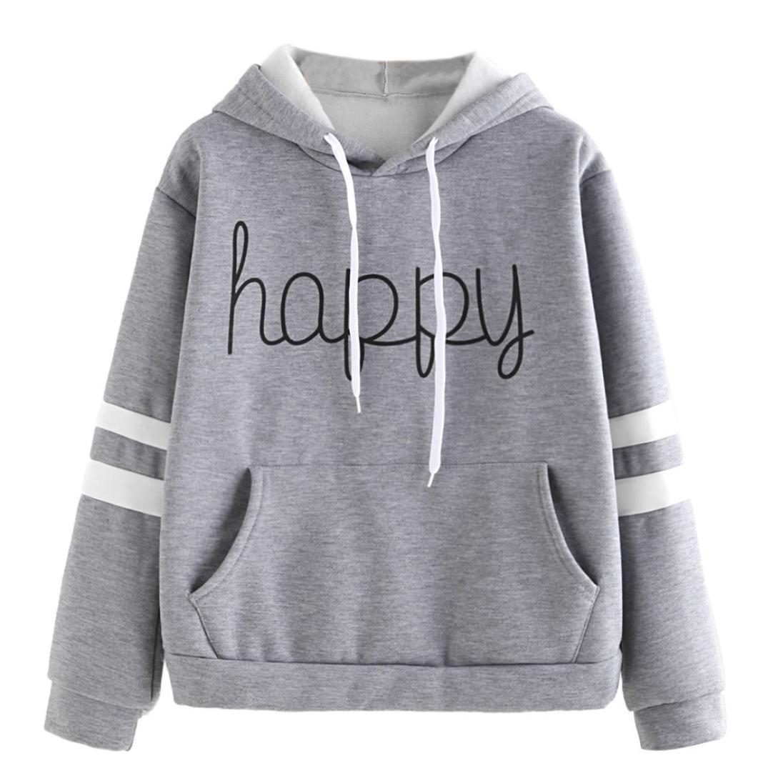 3128a969db59d2 Amazon.com: BCDshop Petite Women Hoodie Sweatshirt Happy Long Sleeve Casual  Girl Pullover Crop Tops Blouse: Clothing