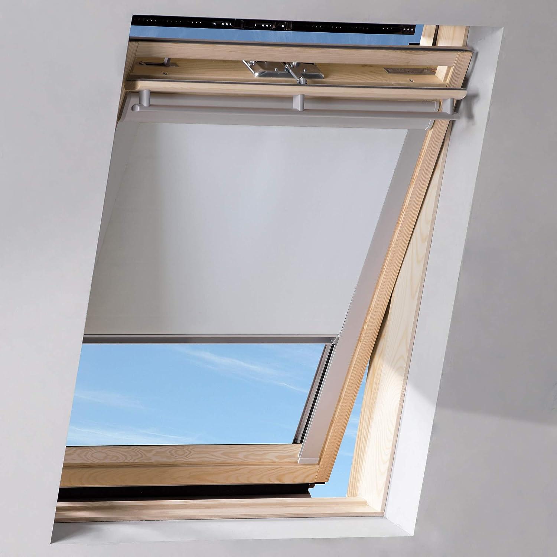 Sol Royal SolReflect D12 Dachfenster Rollo Verdunkelung & Thermo Hitzeschutz für 117x74 cm U04 804 7 Weiß