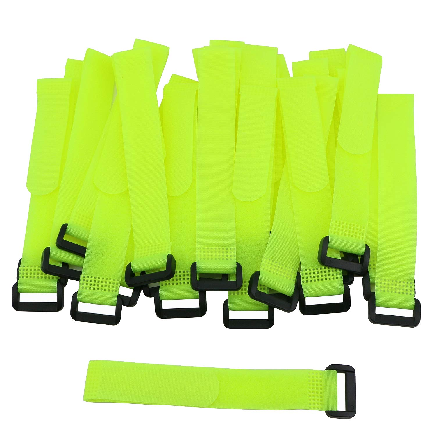 Pasow 25 Pcs 8 Inch Cable Ties with plastic buckle Reusable Wire Cord Straps Yellow