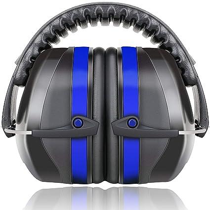 Fnova 34dB Higred NRR Ear Muffs - Defensores profesionales del oído para disparar, color azul