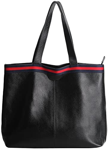 Amazon.com  HESHE Leather Hobo Shoulder Bag Tote Top Handle Soft Handbags  and Purse for Women (Black)  Shoes 4c15b2162a34b