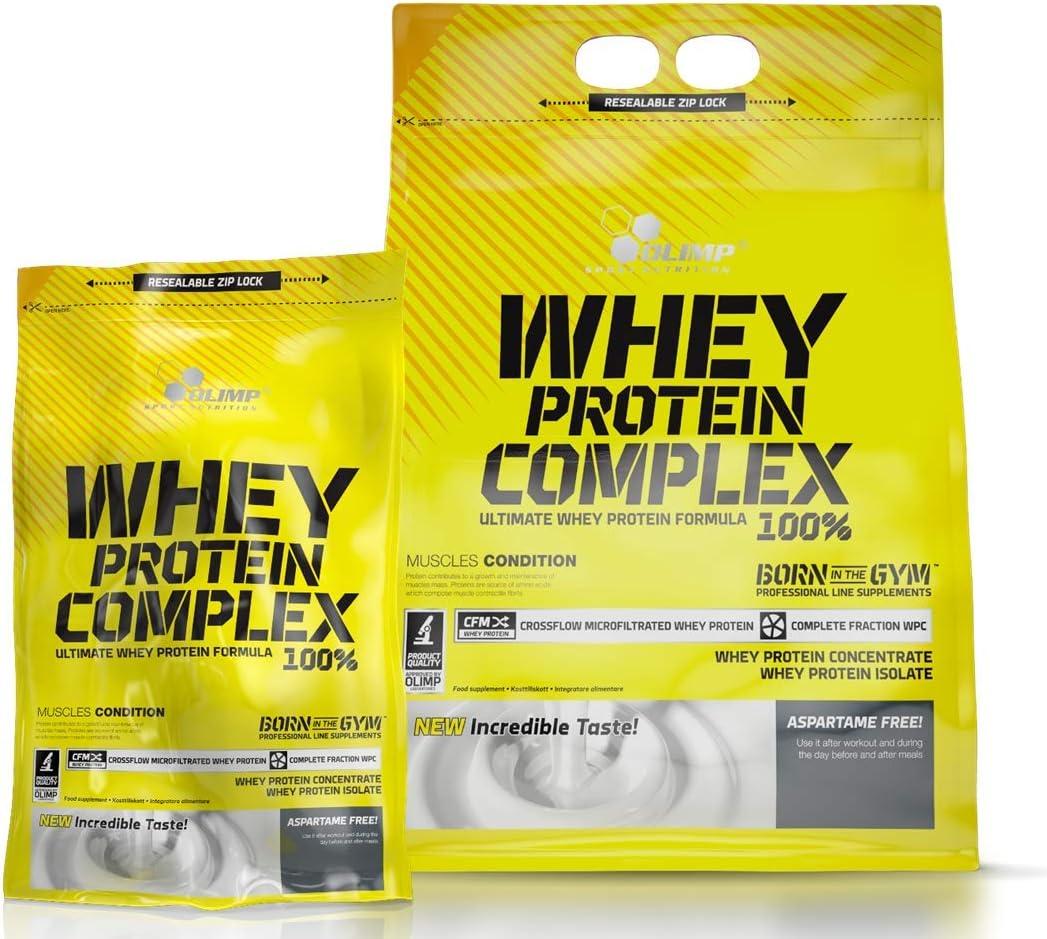 Olimp Complejo de Proteína de Suero 600g Vainilla Proteína de suero aislada y concentrada Ganancia muscular Alto contenido en BCAA La mejor proteína ...