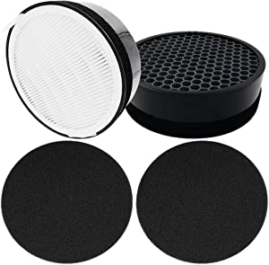 Dttery 2 Set LV-H132 Air Purifier Replacement Filter, True HEPA Filter, LV-H132-RF, Compatible with Levoit LV-H132 Air Purifier