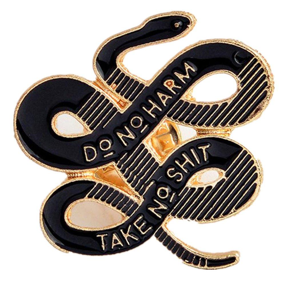 Tfan JaneDream Women Bohemian Snake Brooch Banquet Badge Pins Buckle Badge Backpack Bag Pins Punk