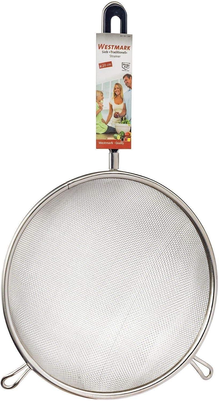12822270 Traditionell Westmark Haushaltssieb Durchmesser: 10 cm Silber//Schwarz Rostfreier Edelstahl//Kunststoff