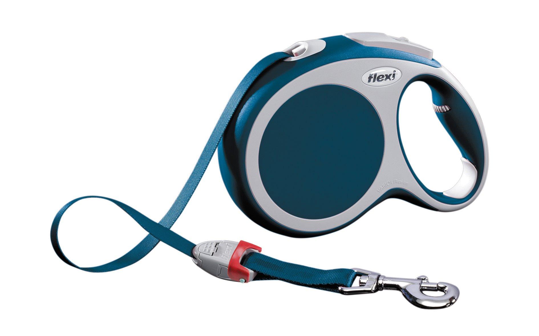 Flexi Vario Retractable Lead Tape, Blue, Large, 8 m