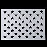 image about 50 Star Stencil Printable named : 50 Superstars Stencil Template - Reusable Stencil of