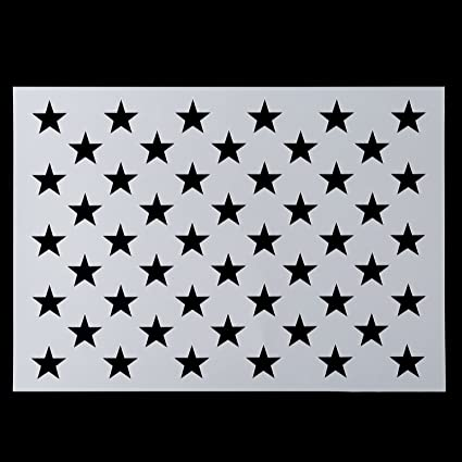 American Flag 50 Star Stencil For Painting On Wood Paper Fabric Glass