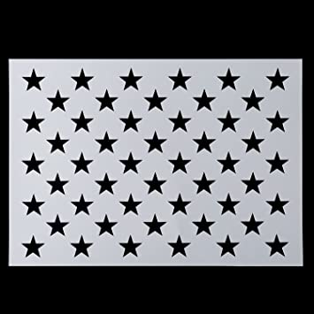Amazon Com American Flag 50 Star Stencil For Painting On Wood