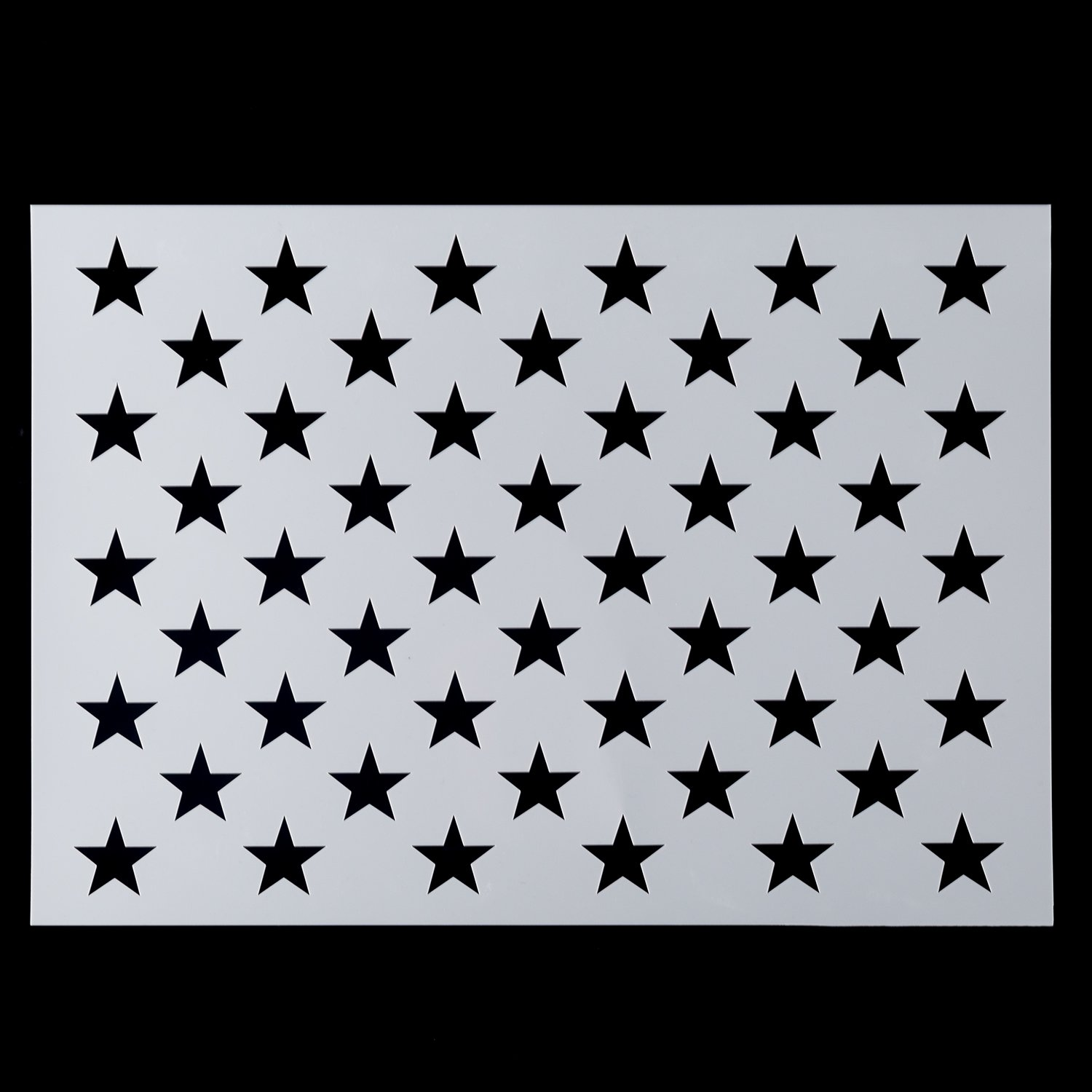 American Flag 50 Star Stencil for Painting on Wood, Paper, Fabric, Glass, and Wall Art