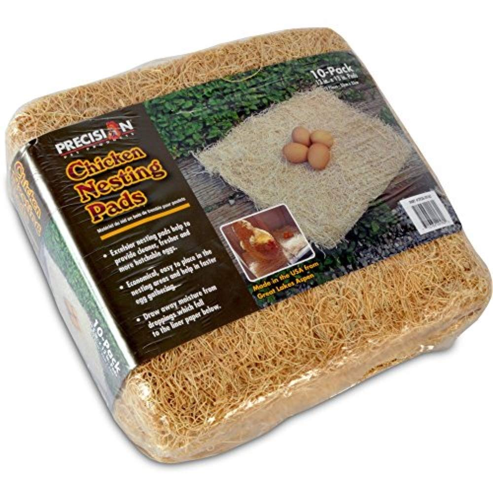 Petmate Precision Pet Excelsior Nesting Pads Chicken Bedding - 13x13 Inches - Package of 10 by Petmate