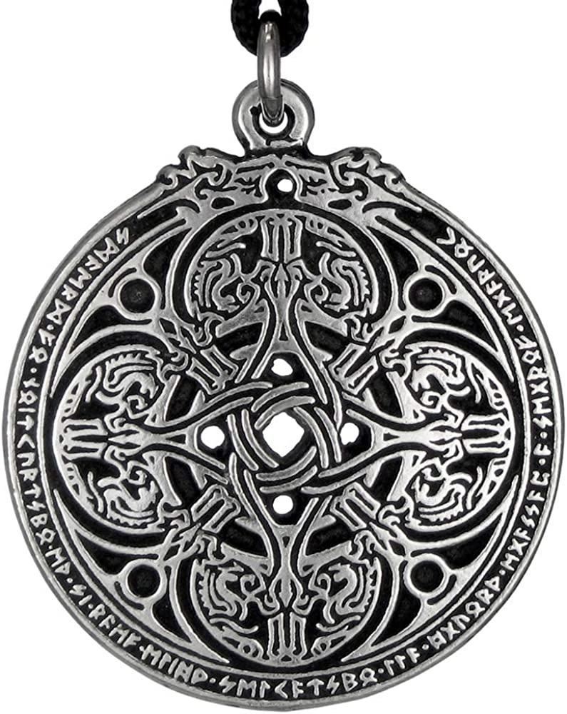 Silver Dragon Necklace Powerful Talisman Male Necklace