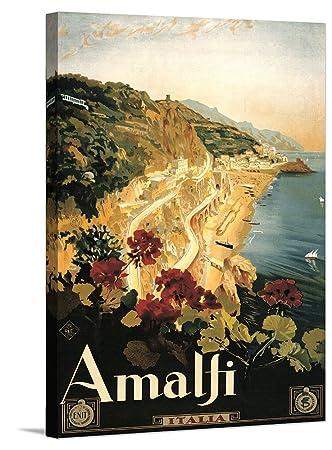 Amazon com: Amalfi Italian Vintage Travel Poster Giclee on