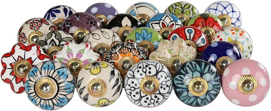 Black /& Teal Flat Ceramic Knobs Kitchen Cabinet Drawer Pulls Ceramic Door knobs