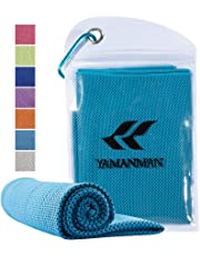 """Yamanman Whale Song Cooling Towel, 40""""x12"""" ice Cooling Towels for Neck, Stay Cool with Microfiber Towel for Yoga, Sport, Running, Gym, Workout,Camping, Fitness, Workout & More Activities"""