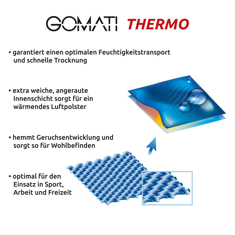 Lange Thermo-Unterhose Gomati Kinder Funktions Unterw/äsche f/ür Kids Schwarz oder Anthrazit