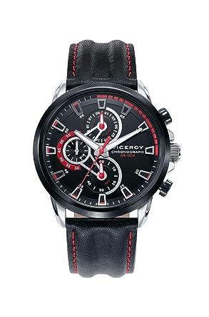 Viceroy Reloj Cronógrafo para Hombre de Cuarzo con Correa en Cuero 46731-57: Amazon.es: Relojes