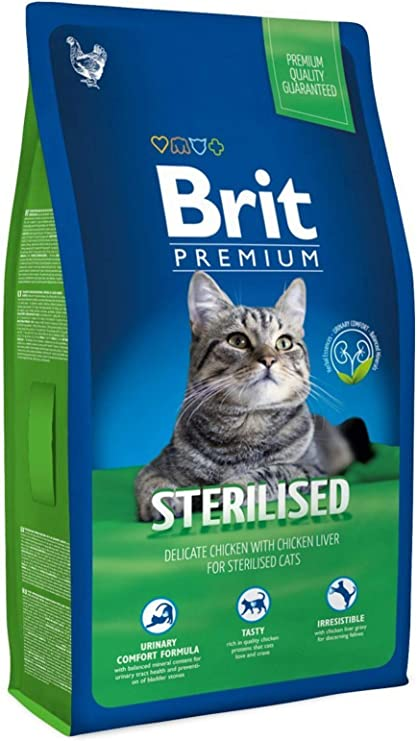 Brit Cat Sterilised Comida para Gatos - 8000 gr: Amazon.es ...