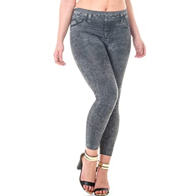 4392dfa8021 AMOS Thermal Contour Jeggings Skinny Shapewear Jeans High Waist Slim Fit  Denim Look Seamless Warm Fleece Lining Trousers Slimming Pants Thigh Tummy  Tuck ...