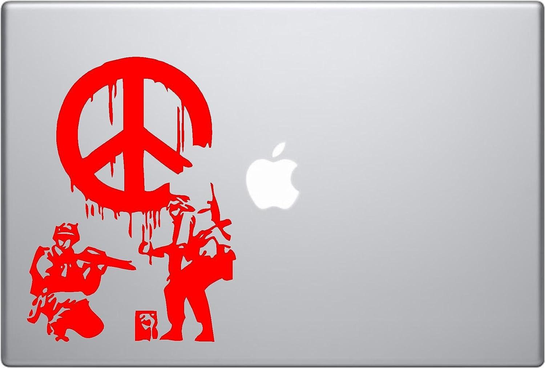Banksy Soldiers Spray Paint Peace Symbol Vinyl Car Sticker Symbol Silhouette Keypad Track Pad Decal Laptop Skin Ipad Macbook Window Truck Motorcycle