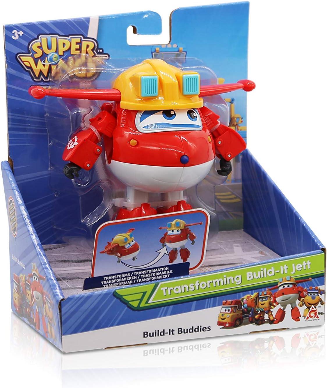 gemischt Super Wings EU730844 Build-It Buddies Remi und Donnie Gro/ßes 3-in-1-Spielset und 5,1 cm Figur