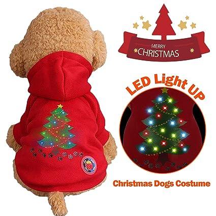 Amazoncom Yardom Light Up Dog Christmas Shirt Costume Xmas Tree