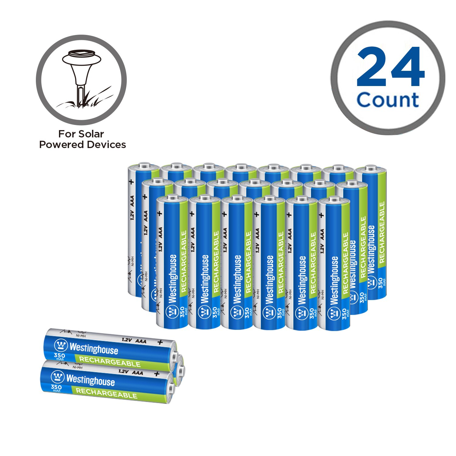 Westinghouse AAA Solar Batteries (24count)