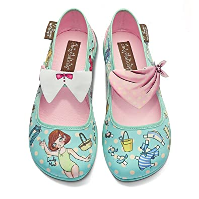 Hot Chocolate Design Chocolaticas Matryoshka Ballerines Mary Jane pour Femmes Multicolore HCD 35  Baskets Femme  Baskets Mixte Adulte  Gris (Grey GG) i30M9th