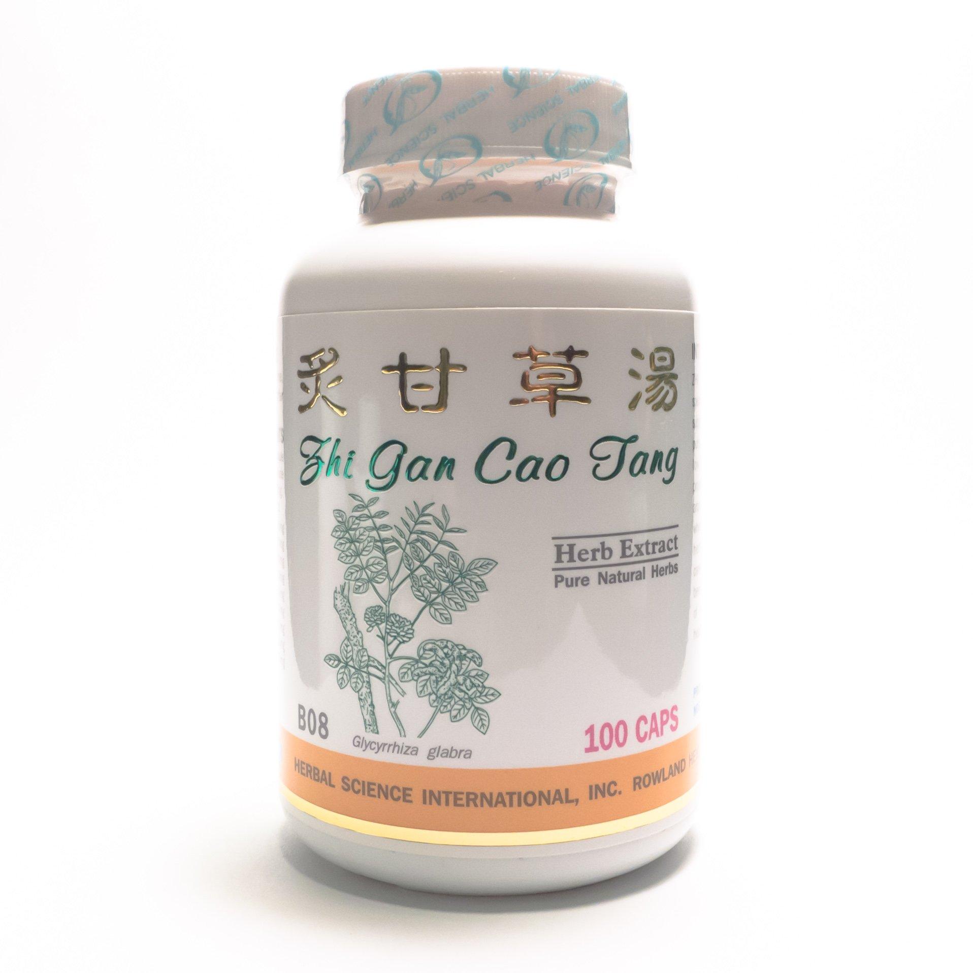 Honey Licorice Formula Dietary Supplement 500mg 100 capsules (Zhi Gan Cao Tang) B08 100% Natural Herbs