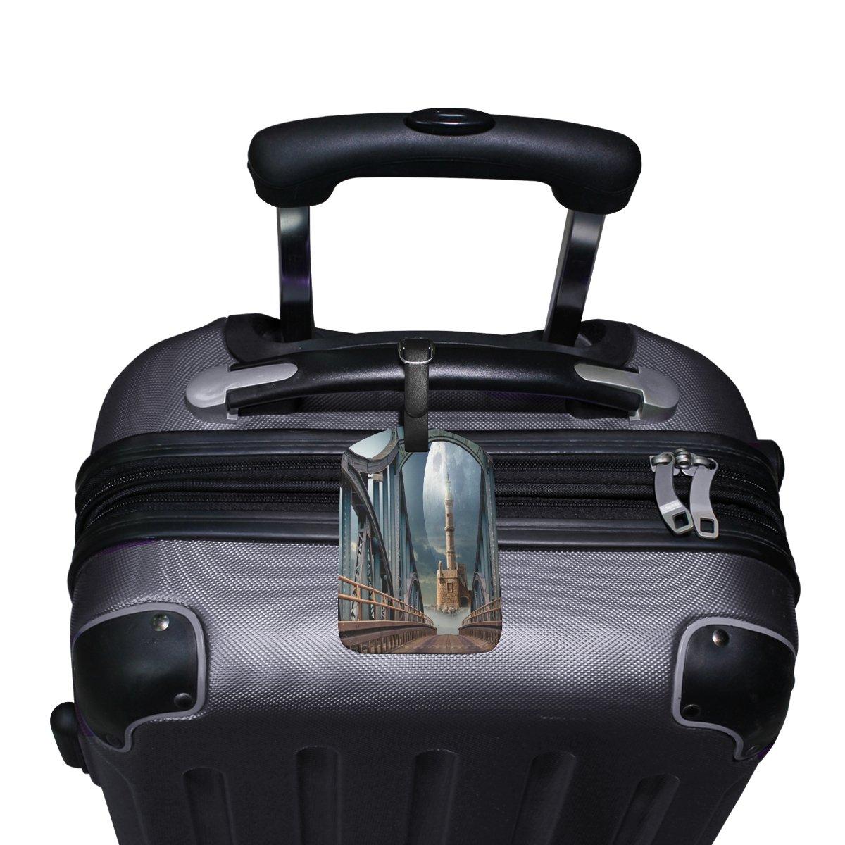 Saobao Travel Luggage Tag Bridge PU Leather Baggage Suitcase Travel ID Bag Tag 1Pcs