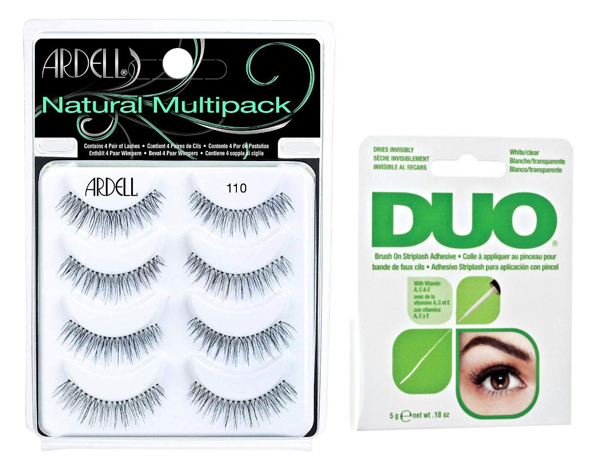 Ardell #110 Multipack w/DUO Pro. Brush On Adhesive Clear