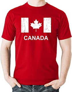 Witty Fashions Canada Flag - Funny Canadian Pride - Maple Leaf - July 1st Canada Day Novelty Men's T-Shirt