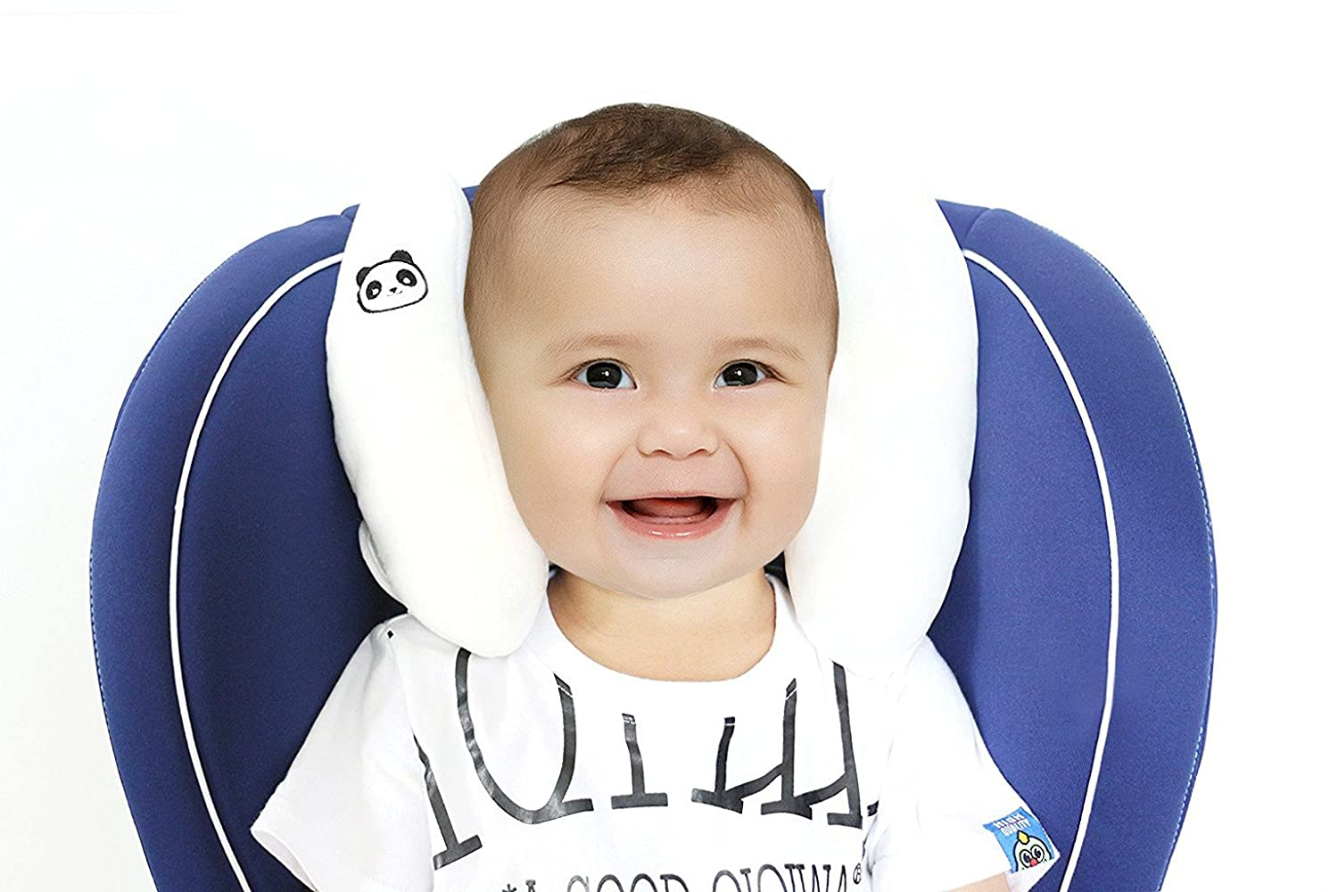 Vine Baby Stroller Pillows Infant Car Seat Head /& Neck Protection Pillow Boys Girls Soft Adjustable Head Support Pram Capsule Pillow,White