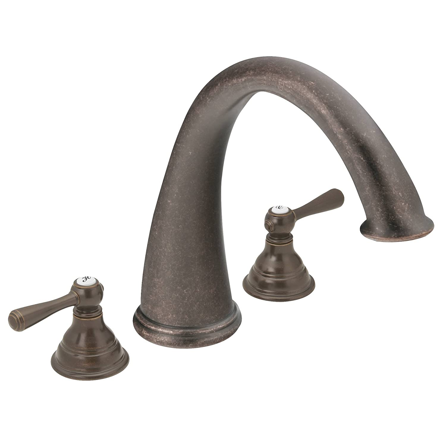 Moen T920ORB Kingsley Two-Handle High Arc Roman Tub Faucet without ...
