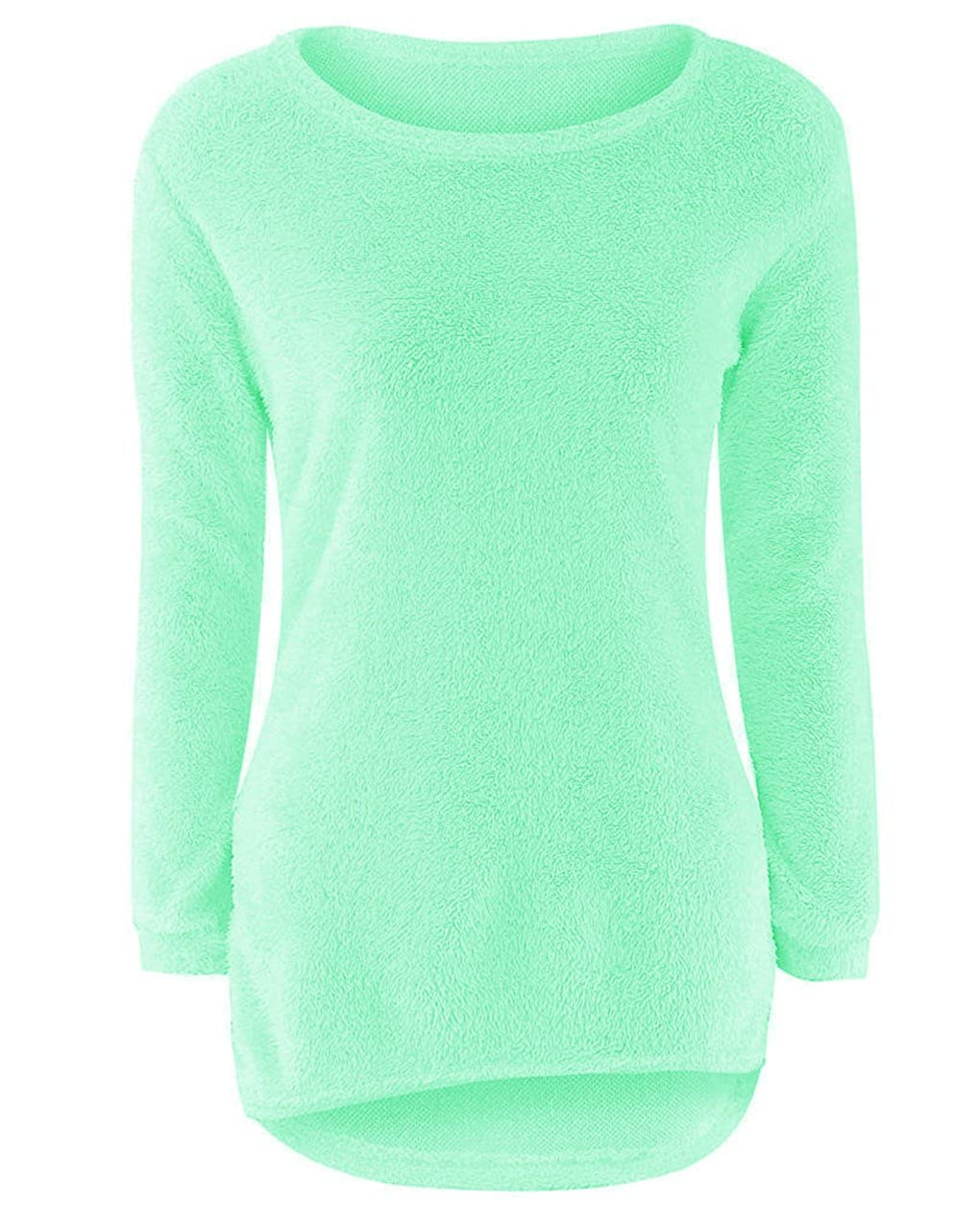 LemonGirl Womens Fashionable Long Sleeve Pullovers Loose Fluffy Fuzzy Jumper Sweater