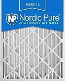 Nordic Pure 20x25x4 AC Furnace Air Filter MERV 12, Box of 1