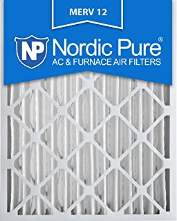 nordic pure 16x25x4 3 58 actual depth merv 12 pleated ac - Hvac Air Filters