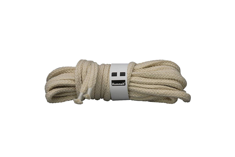 Hummelt/® SilverLine-Rope Baumwollseil Baumwollkordel mit Takling H beige 3er-Set 8mm 5m natur