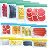 SYEENIFY 12 PACK Reusable Storage Bags, Reusable Gallon Bags & Reusable Sandwich Bags & Reusable Lunch Bag & Reusable Snack B