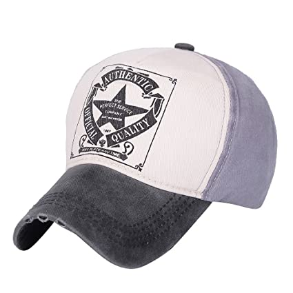 1155fa15 ZOMUSAR Summer Casual Embroidered Letter Printed Hip Hop Baseball Cap Mesh  Hats for Men and Women (D)