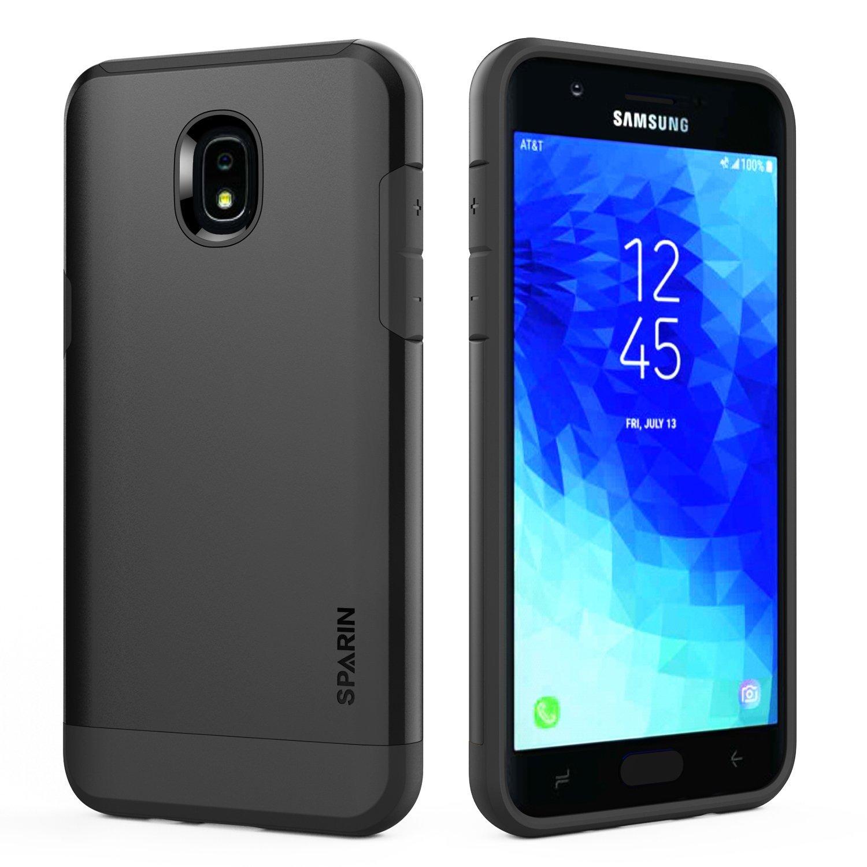 amazon com galaxy j7 2018 case sparin hybrid dual layer tough