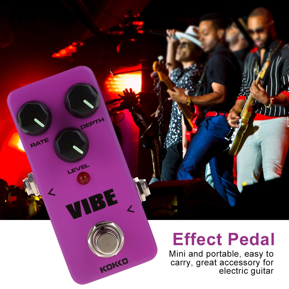 Vibe Guitar Pedal Mini Portable Effect Pedal for Electric Guitar True Bypass Full Metal Shell Pedal by Vbestlife (Image #2)