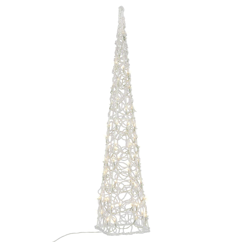 Nipach LED Pyramide Lichterkegel – Beleuchtung für Weihnachten innen außen – Acryl-Figur mit Trafo IP44 – 60 Leuchten warm-weiß 90 cm hoch Nipach GmbH