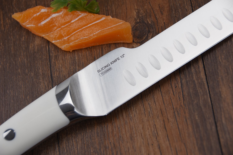 amazon com tuo cutlery slicing knife 12 u0027 u0027white handle japanese