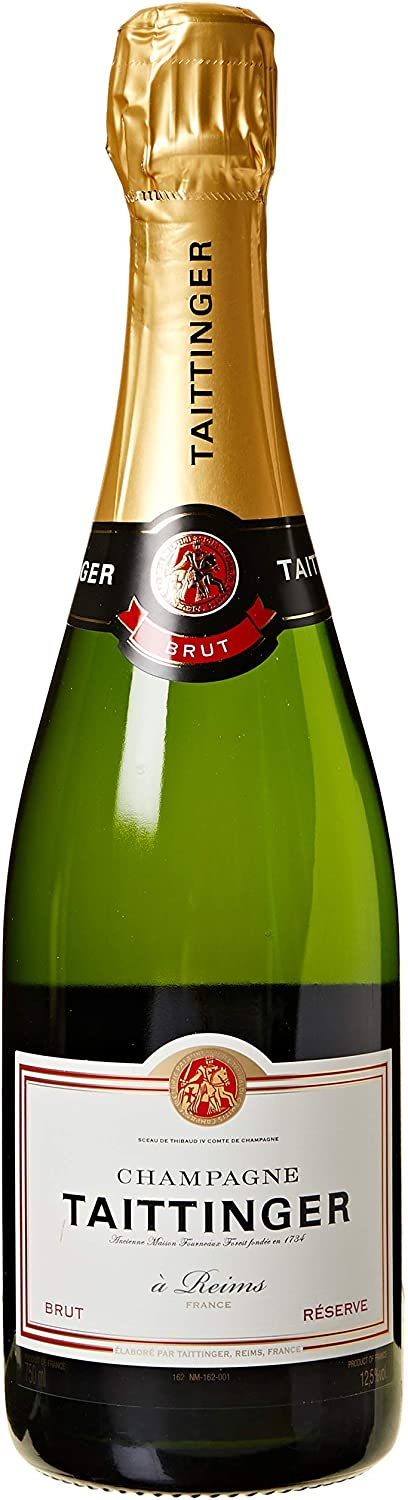 Bottiglia Taittinger brut champagne con scatola, 750 ml scontata amazon