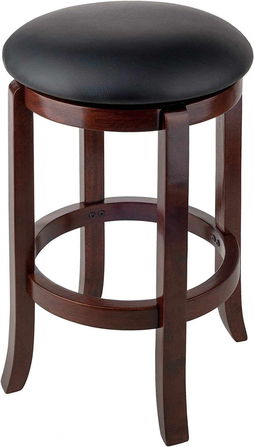 Winsome Walcott Swivel Bar Stool, 24 , Walnut